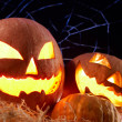 Foto Stock: Halloween gourds