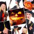 Halloween collage - Stock Photo