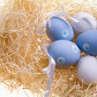 Several colored eggs — Stock Photo