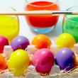 Painted eggs - Stock Photo