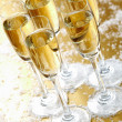 Five champagne — Stock Photo