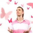 Butterfly entertainment — Stock Photo