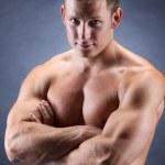 Handsome bodybuiler — Stock Photo