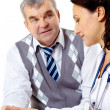Clinician and patient — Stock Photo