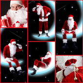 Collage of Santa Claus — Stock Photo