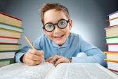 Schoolkid intelligent — Photo