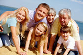 Devoted family — Stock Photo