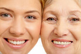 Beautiful woman and mother — Stock Photo