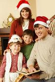 Веселая семья — Стоковое фото