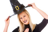 Happy witch — Stock Photo