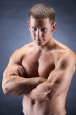 Handsome bodybuiler — Stock Photo