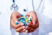 Handful of pills — Stock Photo