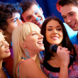 Stock Photo: Karaoke party