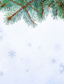 Branch and snowflakes — Stock Photo