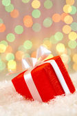 Vánoční dárková krabička — Stock fotografie