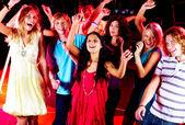 Dancing friends — Stock Photo
