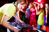 Working in night club — Stock Photo