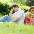Stock Photo: Couple in grass