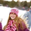 Playing snowballs — Stock Photo #11582294