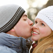 Royalty-Free Stock Photo: Warm kiss