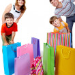 Family and bags — Stock Photo #11582677