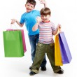 Brothers with bags — Stock Photo #11582705