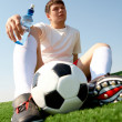Stock Photo: Resting footballer