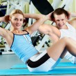 Doing exercise — Stock Photo