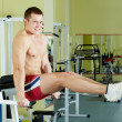 Man in gym - Stockfoto