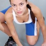 Sportive girl — Stock Photo