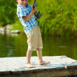 Kid fishing — Stock Photo #11583385