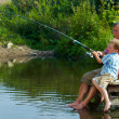 Weekend fishing — Stock Photo