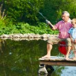 Summer fishing — Stock Photo