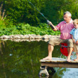 Stock Photo: Summer fishing