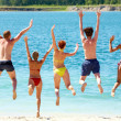Fun near the lake — Stock Photo