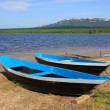 Boats near lake — Stock Photo