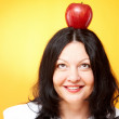 Head with apple — Stock Photo