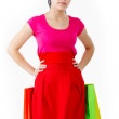 Shopper in red — Stock Photo