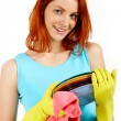 Pretty housewife — Stock Photo