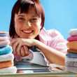 Happy housewife - Stock Photo