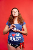Soon I will be mother — Stock Photo