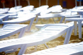 Deck chairs — Стоковое фото