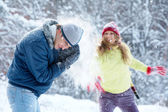 Snow play — Stock Photo