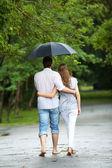 Walking in the rain — Stock Photo