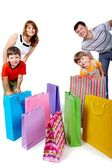 Family and bags — Stock Photo
