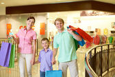 Happy shoppers — Stock Photo