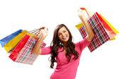 Shopper mit Taschen — Stockfoto