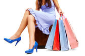 Rest after shopping — Stock Photo