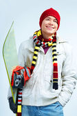 Happy snowboarder — Stock Photo