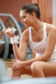 Pumping muscles — Stock Photo